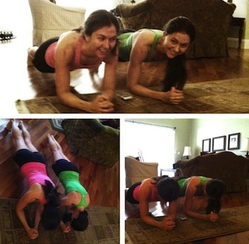 5 minute plank holding workout for the full body @purelytwins #fitfluential