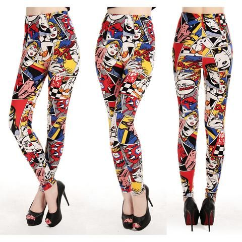 SUPER COMIC LEGGINGS - touchfancy.com - 1