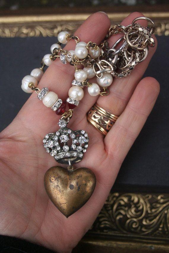 Ex Voto Ex voto Heart Ex Voto necklace Religious by IRISHTREASURE