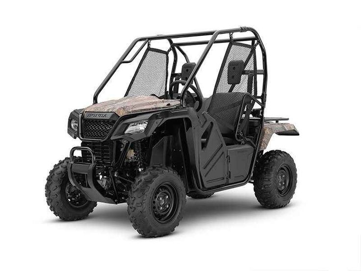 New 2017 Honda Pioneer™ 500 Camo ATVs For Sale in Iowa. FULL-SIZED FEATURES IN A FUN-SIZED PACKAGE. Choosing the right tool is the job half done. And it can make whatever you're trying to do a lot more fun. For thousands of side-by-side owners, the right tool for the job is a Honda Pioneer 500. It's big enough to seat two easily, but at just 50 inches wide, it can fit where bigger side-by-sides can't, letting you explore trails with width restrictions. That means it also fits into a…