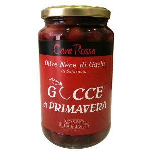 Olive Nere di Gaeta - Gocce di Primavera di Cosmo Di Russo - Vetro 350gr