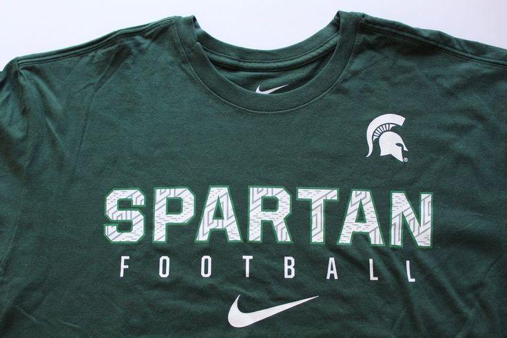 Men's Nike Michigan Spartan Football Graphic T-Shirt Athletic Cut Size Large #Nike #ShirtsTops