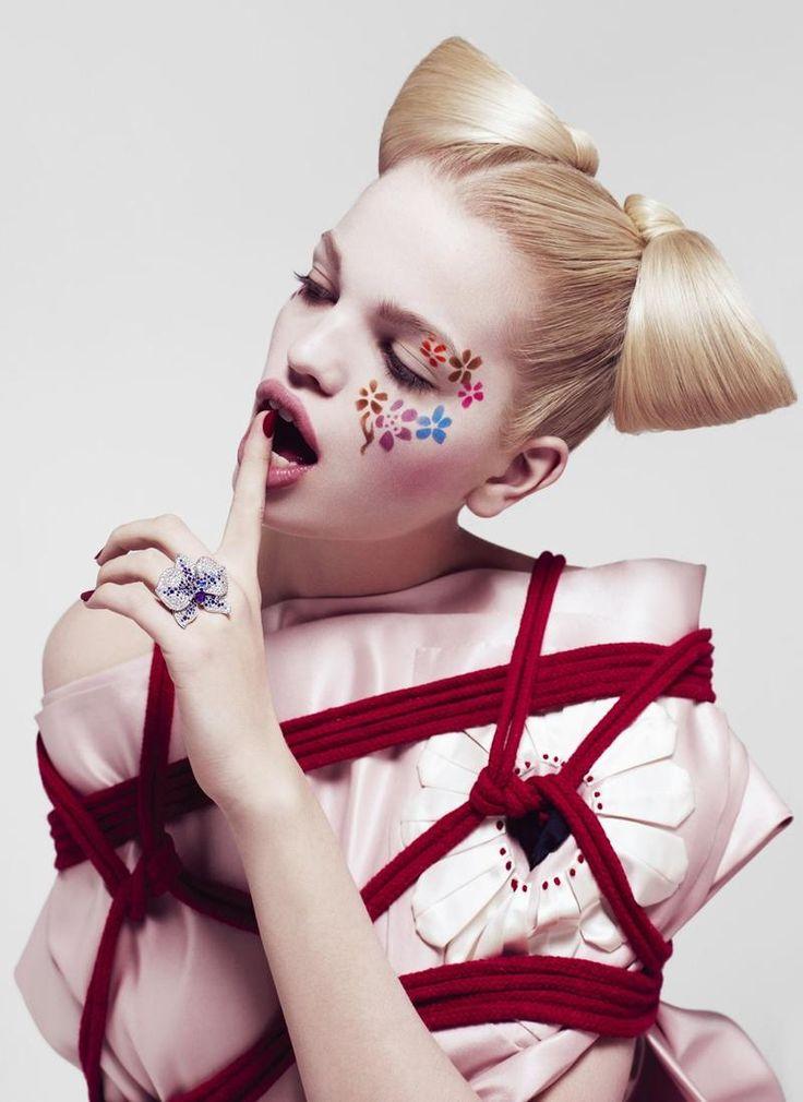 Daphne Groeneveld in 'The Geisha' by Paola Kudacki for Flair, March 2013. #prada #fashion