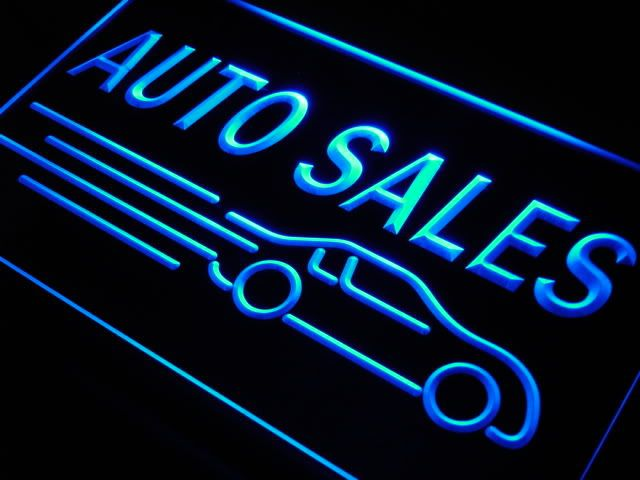 Auto Car Sales Neon Light Sign Neon light signs, Led