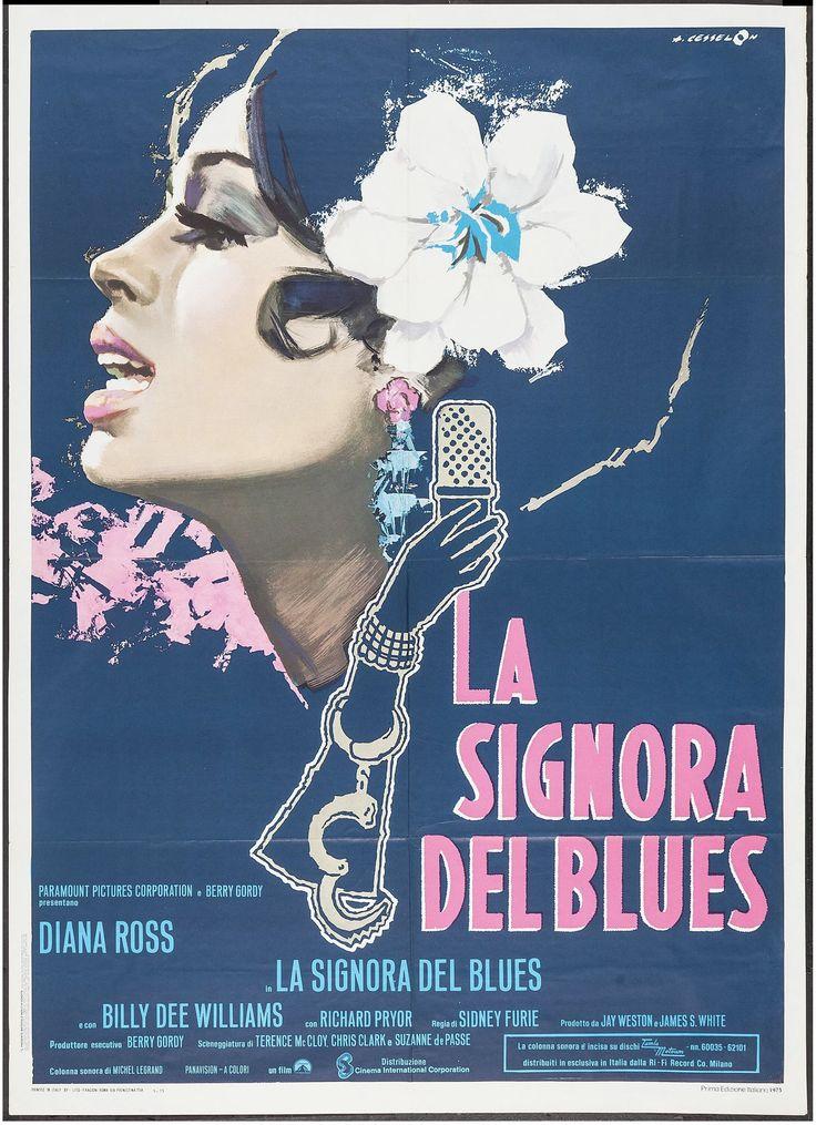 LADY SINGS THE BLUES: dokumentarischer Spielfilm über das Leben der Jazz-Musikerin Billie Holiday, die bis zu ihrem Tod im Jahr 1959 eine der grössten Vertreterinnen ihres Fachs war. Das entsprechende Filmplakat ist meisterhaft gestaltet. Unser Plakat des Monats November.