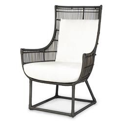 tyler modern classic faux wicker espresso outdoor lounge chair salt kathy kuo home
