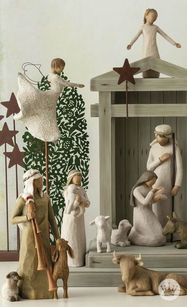 Willow Tree® Nativity Scene | As enduring as the story it portrays, this complete Willow Tree Nativity scene from Hallmark beautifully represents the awe and wonder of the Christmas Story. This set includes Mary, Joseph, Baby Jesus, and many other notable figures from the story.