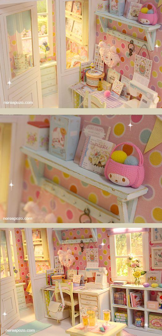 Nerea Pozo Art: ♥ NEW DIORAMA KAWAII COLORS Craft Room ♥