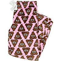Poo Poop Emoji Superminky Fleece Sleep Pants