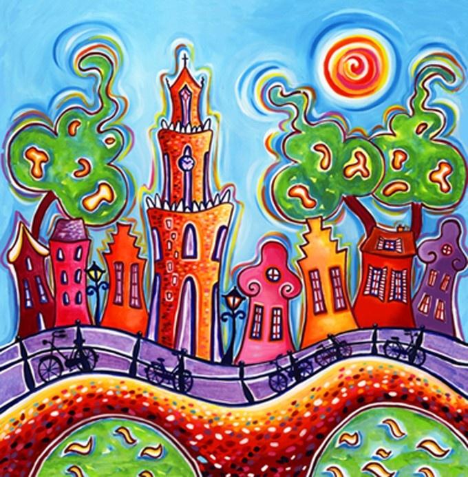 10 best idee n over zon schilderen op pinterest mandala art acrylcanvas en mandela kunst - Idee deco gang schilderij ...