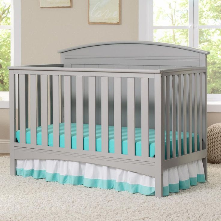 Great Delta Children Archer in Convertible Crib Gray