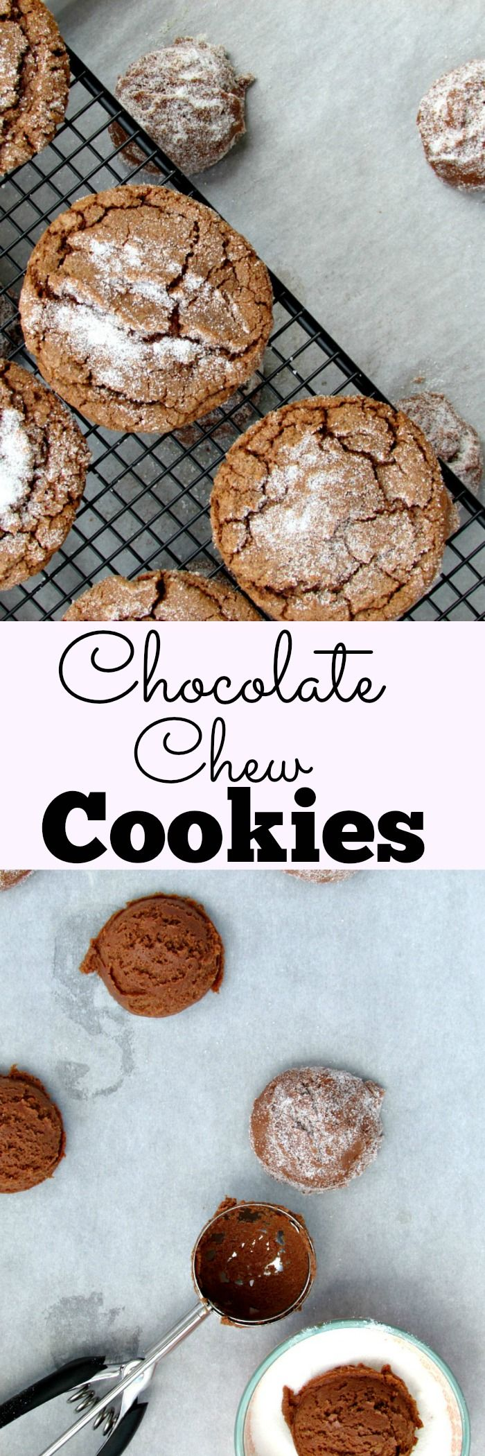 Chocolate Chew Cookies | Lou Lou Biscuit