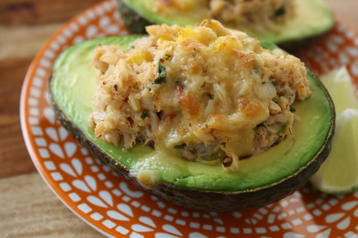Crab Stuffed Avocado - Low Carb