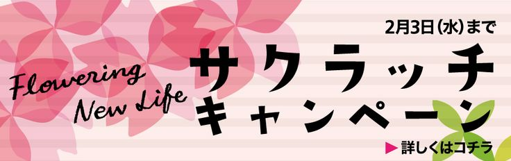【開催中】サクラッチキャンペーン 1/30(土)~2/3(水)