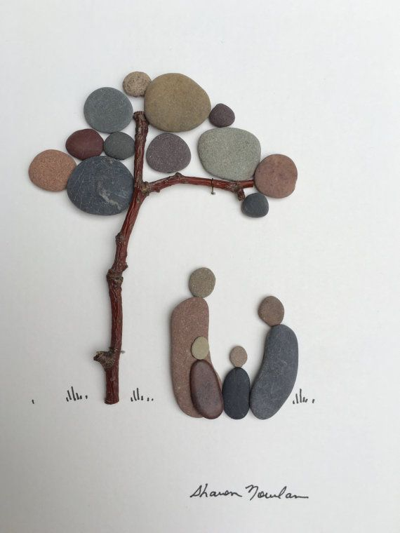 8 von 15  Kiesel-Kunst von Sharon Nowlan kommt mit Passepartout und Glas gerahmt