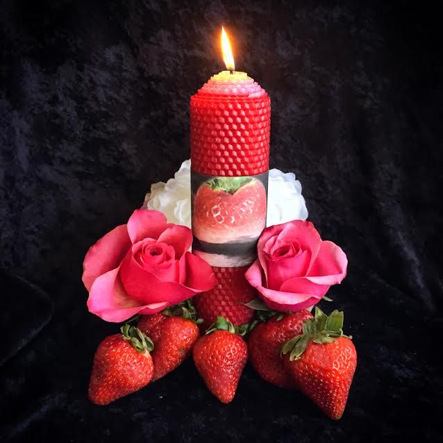 For the Strawberry Full Moon light a candle, layout your crystals in moonlight and enjoy some strawberries and whipped cream! .