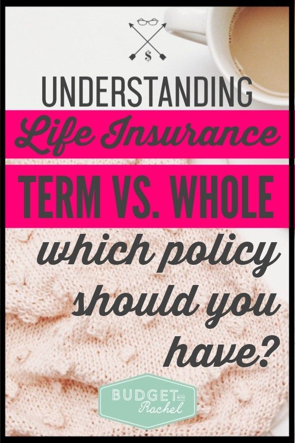 Term Life Vs Whole Life Insurance Simplified Budget With Rachel