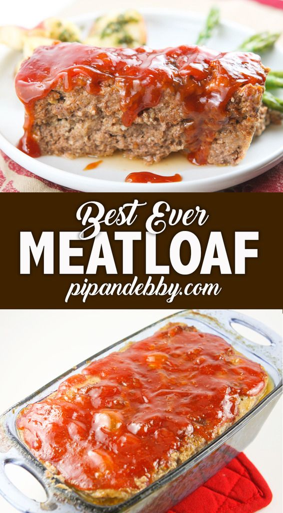 This truly is the BEST meatloaf you will ever eat in your life. Even meatloaf-haters love this recipe! This is my mother's delicious recipe with an added touch of TO-DIE-FOR sauce, for good measure. You will not be disappointed! #meatloaf #dinner