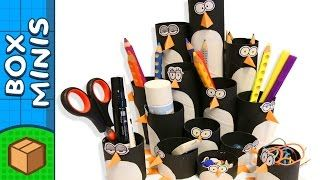 Learn to make this penguin colony pencil organizer!