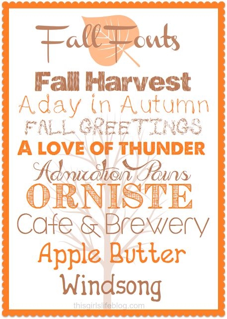 Fall Friday: Favorite Free Fall Fonts
