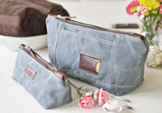 NO. 317 & NO. 275 Personalized Makeup Bag Set by SivaniDesignsShop