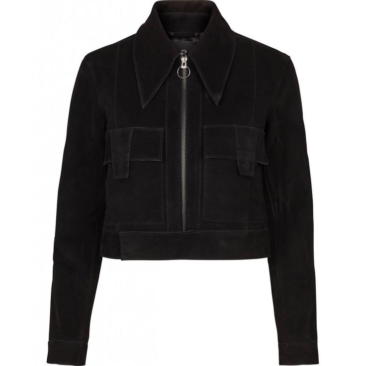 Shannan Suede Jacket - Black