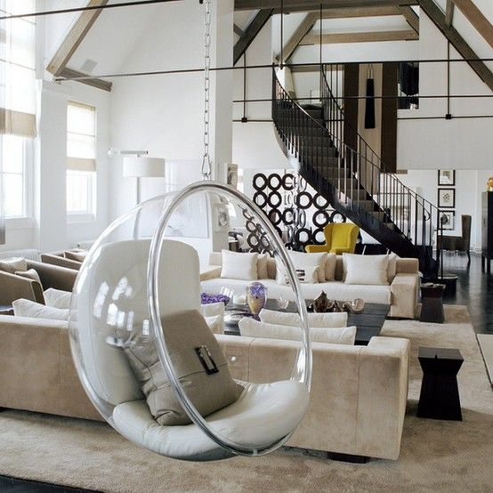 Kelly Hoppen  Bubble Chair   I Think Iu0027m Breaking Down And Liking The Idea  Of The Kiddos Having A Swing In Our Living Room Since Our Ceiling Looks  Like ...