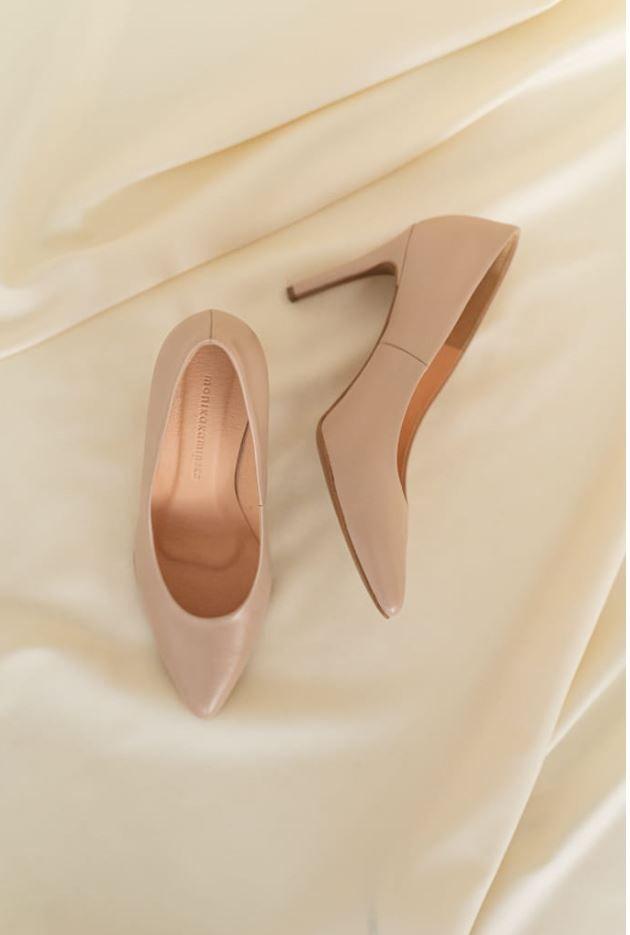 Bezowe Szpilki Monika Kaminska Heels Wedding Shoe Pumps