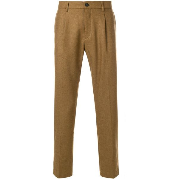Low Brand classic chinos ($187) ❤ liked on Polyvore featuring men's fashion, men's clothing, men's pants, men's casual pants, brown, mens chinos pants, brown mens pants and mens chino pants