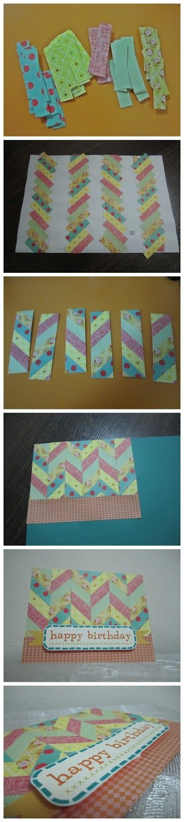 how to make a chevron card :)