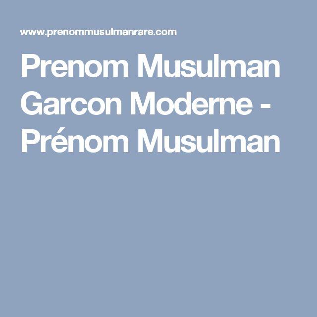 Prenom Musulman Garcon Moderne - Prénom Musulman