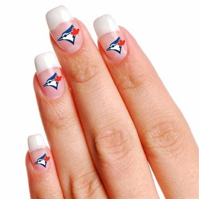 Toronto Blue Jays 4-Pack Fingernail Tattoos