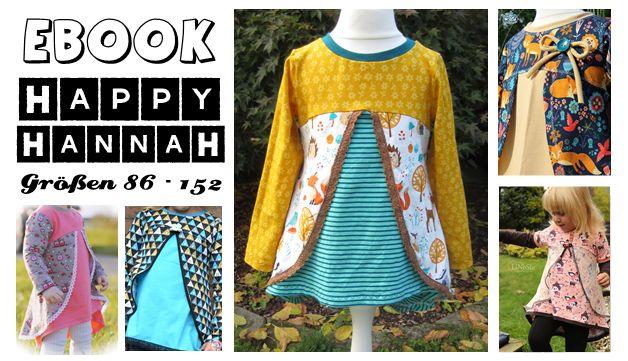 Das Happy HannaH ist ein weiterer toller Schnitt für Mädchen  in den Größen 86-152 und für Nähanfänger geeignet.  Das Schnittmuster beinhaltet den Grundschnitt einer Tunika in Vokuhila-Optik,...