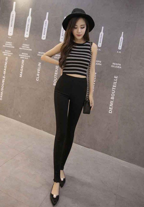 Fashion Celana Panjang Wanita Import Bahan Katun Stretch B2908