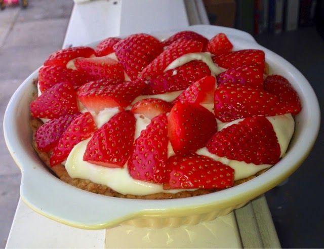Jordbær tærte - den eneste ene