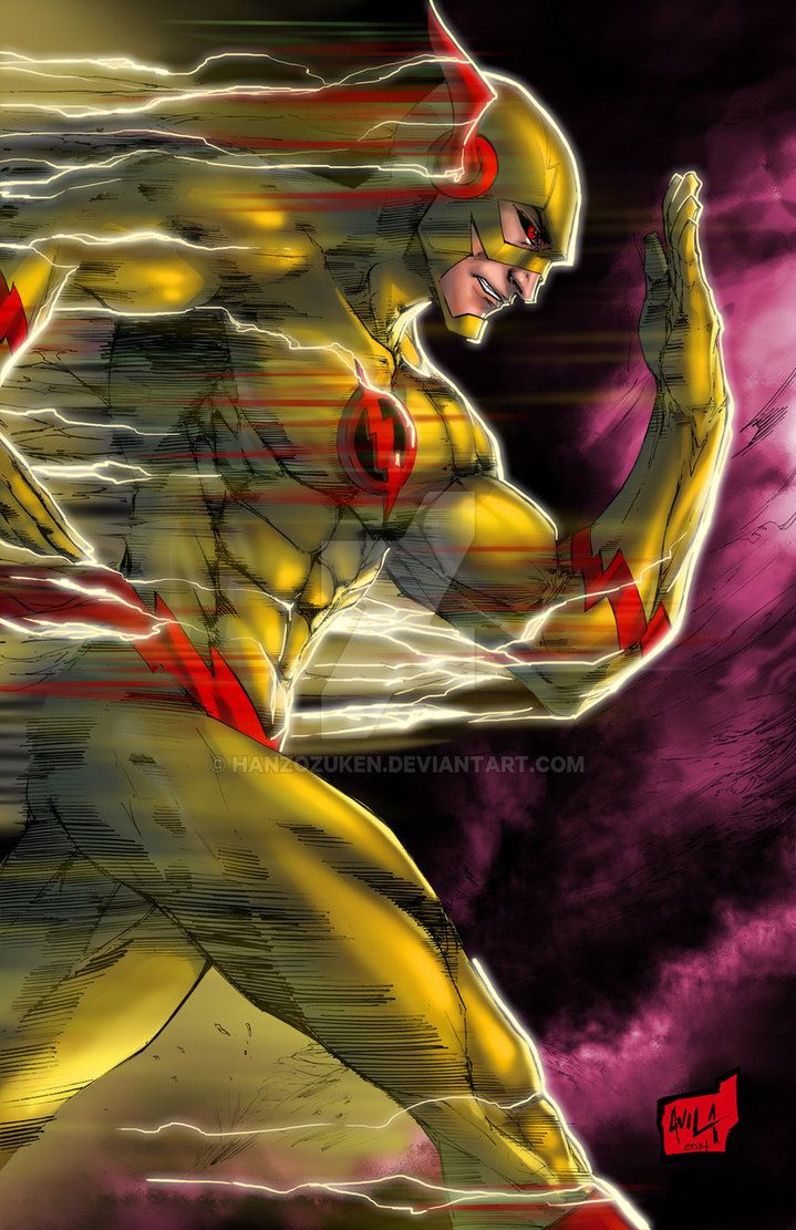 Concept piece for New 52 Reverse Flash. Not used - clearly lol - but still fun to tackle this one as an exercise