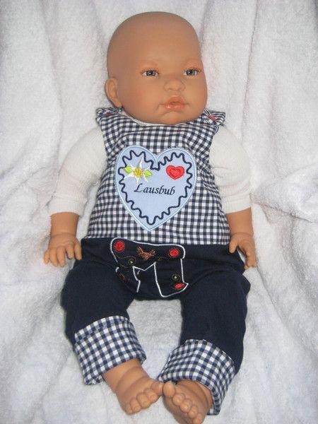 Mitwachs - Strampler  Oktoberfest Wiesn Lausbub von me Kinderkleidung und ersatzbezuege auf DaWanda.com