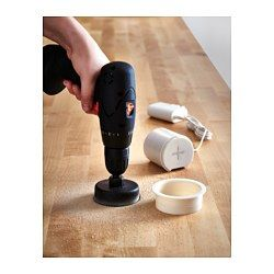 IKEA - FIXA, 5-piece hole saw set, Helps you quickly and easily make holes for faucets, cables or wireless chargers.