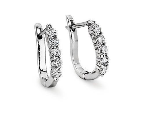 Diamond Delicate Hoops Huggie Earrings