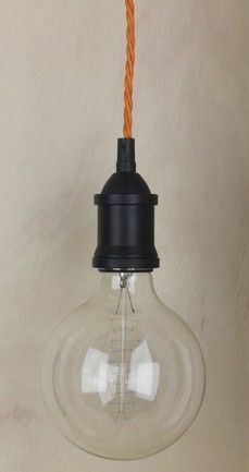 Mr Ralph - Bare Bulb Pendant Vintage Black , Pendants