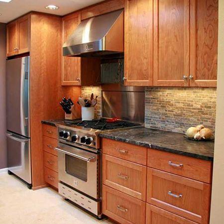 18 best kitchen ideas images on pinterest cherry kitchen for Kitchen remodel ideas cherry cabinets