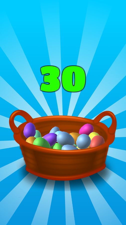 Every day you get a basket of Surprise Eggs, actually 2 times every day! The eggs are colorful and fun.