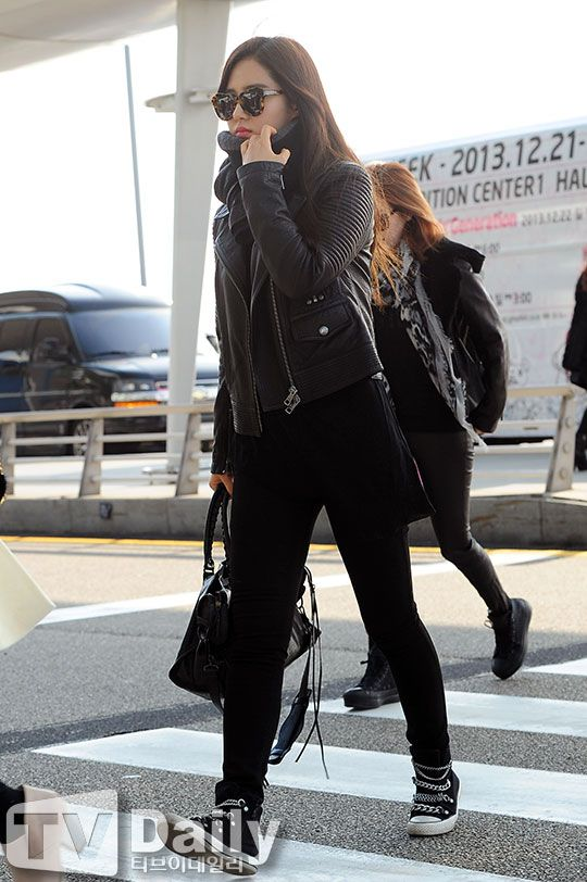 snsd yuri airport fashion november 30 girls generation