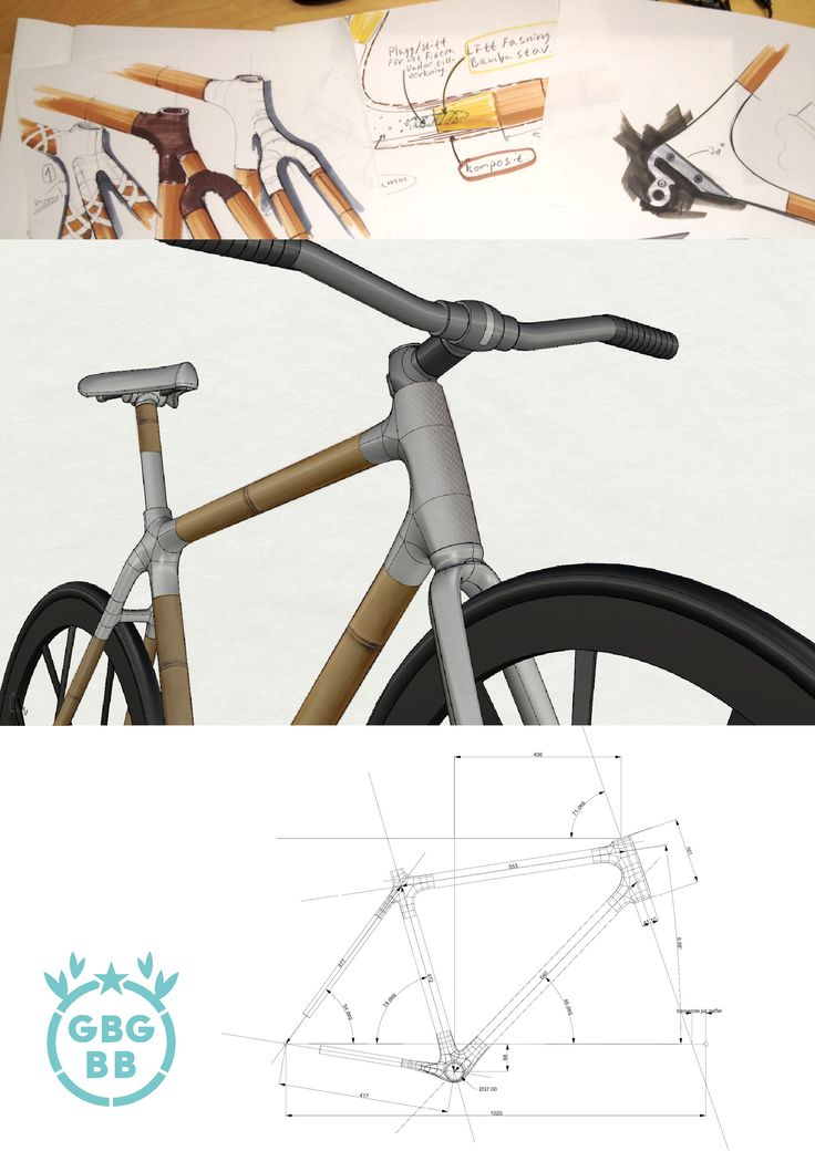 GBG Bamboo Bike make bamboo bike frames without metal inserts. Pretty awsome!