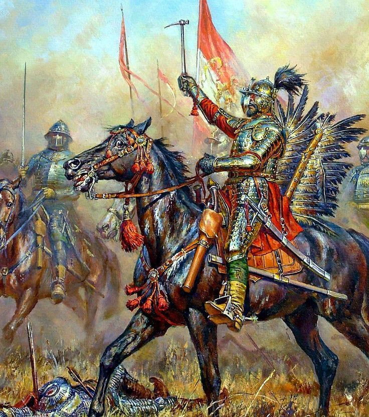 """Winged Hussars at the battle of Khotyn"". Polish-Lithuanian Commonwealth defeats Ottoman Army. September 2-9, 1621 by Anatoly Telenik"
