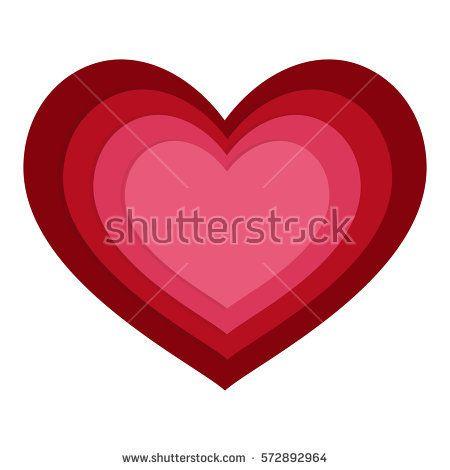 Vector heart illustration - Valentine's day card