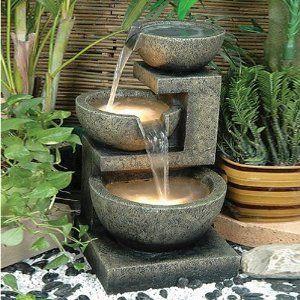 : Gardens Ideas, Backyard Ideas, Waterfeatur, Gardens Fountain, Patio, Outdoor Fountains, Water Fountains, Outdoor Water Features, Homes