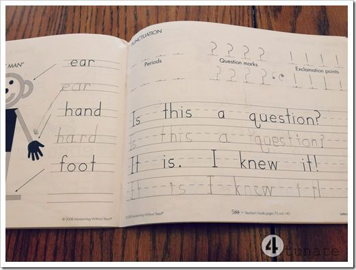 handwriting without tears homeschool kindergarten (same curriculum as Monroe Christian School)