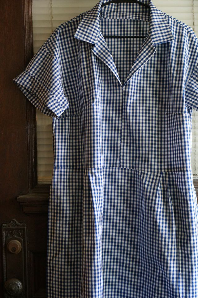 """Factory Girl"" by Merchant and Mills. 100% cotton gingham."