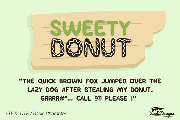 Sweety Donut Fonts - Fun Typo by YandiDesigns on @creativemarket